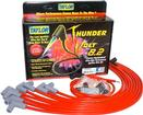 Red Taylor Thunder Volt Small Block w/o HEI Under Headers Ignition Wire Set w/90° Plug Boots