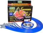 Blue Taylor Thunder Volt Small Block w/HEI Under Headers Ignition Wire Set w/90° Plug Boots