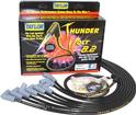 Black Taylor Thunder Volt Small Block w/HEI Under Headers Ignition Wire Set w/90° Plug Boots