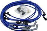 Blue Taylor Thunder Volt Big Block w/o HEI Over Valve Cover Ignition Wire Set w/135° Plug Boots