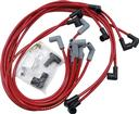 Red Taylor Thunder Volt Big Block w/o HEI Under Headers Ignition Wire Set with 90° Plug Boots