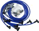 Blue Taylor Thunder Volt Big Block with HEI Under Headers Ignition Wire Set with 90° Plug Boots