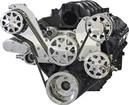 Serpentine Front Drive System, LS1/2/3/6 Engs with A/C & P/S With Tuff Stuff Water Pump - Polished
