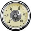 "Auto Meter Prestige Series Antique Ivory 2-1/16"" 0-100 PSI Mechanical In-Dash Oil Pressure Gauge"
