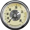 "Auto Meter Prestige Series Antique Ivory 2-1/16"" 120-240° Mechanical In-Dash Water Temp Gauge"