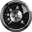 "Auto Meter Prestige Series Black Diamond 2-1/16"" 120-240 Degree Mechanical In-Dash Water Temp Gauge"