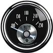"Auto Meter Prestige Series Black Diamond 2-1/16"" 100-250 Degree Electric In-Dash Water Temp Gauge"