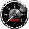 AUTO METER PRESTIGE SERIES BLACK DIAMOND 3-3/8 120 MPH ELECTRIC IN DASH SPEEDOMETER W/LCD ODOMETER