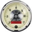 "Auto Meter Prestige Series Antique Ivory 3-3/8"" 120 MPH Electric In Dash Speedometer w/LCD Odometer"
