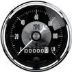 "Auto Meter Prestige Series Black Diamond 3-3/8"" 120 MPH Electric In Dash Speedometer"