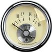 "Auto Meter Prestige Series Antique Ivory 2-1/16"" 8-18 Volt In-Dash Voltmeter Gauge"