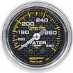 "Auto Meter Carbon Fiber Series 2-1/16"" 140º-280º Full Sweep Mechanical Water Temperature Gauge"