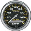 "Auto Meter Carbon Fiber Series 3-3/8"" Programmable 160 MPH Electric Speedometer"