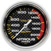 "Auto Meter Carbon Fiber Series 2-5/8"" 0-2000 PSI Mechanical Nitrous Pressure Gauge"