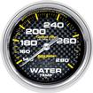 "Auto Meter Carbon Fiber Series 2-5/8"" Full Sweep 140º-280º F Mechanical Water Temperature Gauge"