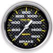 "Auto Meter Carbon Fiber Series 2-5/8"" Full-Sweep 0-1600 PSI Electric Brake Pressure Gauge"