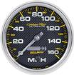 "Auto Meter Carbon Fiber Series 5"" 160 MPH Programmable Electronic In Dash Speedometer"