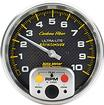 "Auto Meter Carbon Fiber 5"" Full Sweep 10,000 RPM In Dash Tachometer with Peak Recall"
