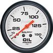 "Auto Meter Phantom Series 2-1/16"" Full Sweep 0-150 PSI Mechanical Oil Pressure Gauge"