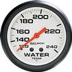 "Auto Meter Phantom Series 2-1/16"" 120º-240º Full Sweep Mechanical Water Temperature Gauge"