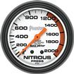 "Auto Meter Phantom Series 2-5/8"" 0-2000 PSI Mechanical Nitrous Pressure Gauge"