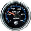 "Auto Meter Cobalt Series 2-1/16"" Full Sweep 0-100 PSI Electric Oil Pressure Gauge"