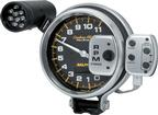 "Carbon Fiber Series 5"" 11,000 RPM Pedestal Mount 4 StageTachometer with LED Shift Light & Recall"
