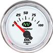 "Auto Meter NV Series 2-1/16"" Short Sweep 0-100 PSI Electric Oil Pressure Gauge"