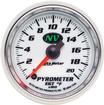 "Auto Meter NV Series 2-1/16"" Full Sweep 0-2000º F Electric EGT Pyrometer Gauge"