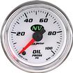 "Auto Meter NV Series 2-1/16"" Full Sweep 0-100 PSI Electric Oil Pressure Gauge"