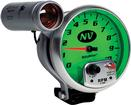 "Auto Meter NV Series 5"" 10,000 RPM Pedestal Mount Tachometer with Amber Shift Light"