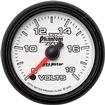 "Auto Meter Phantom II Series 2-1/16"" Full Sweep 8-18 Volt Electric Voltmeter Gauge"