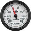 "Auto Meter Phantom II Series 2-5/8"" Full-Sweep 20 PSI / 30"" Hg Mechanical Boost / Vacuum Gauge"