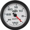 "Auto Meter Phantom II 2-5/8"" Full Sweep 0-30 In. Hg Mechanical Vacuum Gauge"