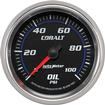 "Auto Meter Cobalt Series 2-5/8"" Full Sweep 1-100 PSI Mechanical Oil Pressure Gauge"
