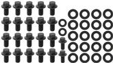 396-454ci Chevrolet Big Block Black Oxide Hex Head Oil Pan Bolt Set
