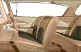 1958 Bel Air 2 Door Hardtop Gold Cloth With Light And Medium Gold Vinyl Full Set Upholstery