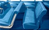 1960 Bel Air 2 Door Sedan Blue Cloth / Blue Vinyl Upholstery Set