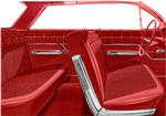 1962 Bel Air 4 Door Sedan Red & Black Cloth / Red Vinyl Upholstery Set