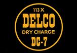 DELCO BATTERY DECAL