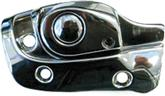 1965-70 FULL-SIZE CONVERTIBLE LEFT HAND CHROME SUNVISOR SUPPORT BRACKET