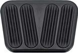 1955-57 CHEVY LOKAR BLACK ANODIZED BILLET ALUMINUM MANUAL TRANS BRAKE/ CLUTCH PAD W/ RUBBER INSERTS
