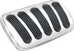 1962-67 CHEVY II / NOVA LOKAR BRUSHED BILLET ALUMINUM  AUTOMATIC BRAKE PEDAL PAD WITH RUBBER INSERTS
