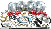 1968-74 Big Brake Conversion Set with Red Powder Coated Front and Rear Calipers