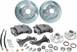 1967-74 Front Big Brake Conversion Set with Black Calipers