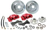 1967-74 Front Big Brake Conversion Set with Red Calipers