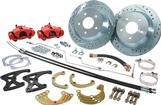 1968-74 Rear Big Brake Conversion Set with Red Calipers