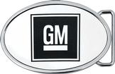GM Mark Of Excellence Logo Belt Buckle Framed - Oval