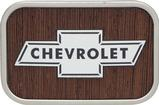 Chevrolet Bowtie Logo Belt Buckle Framed - Walnut