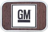 GM Mark Of Excellence Logo Belt Buckle Framed - Walnut